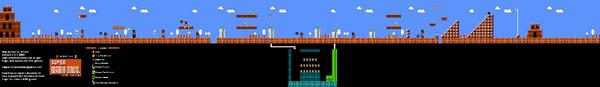 SMB World 7-1 NES level map