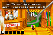 DKC3GBA Screenshot Bennys Lift