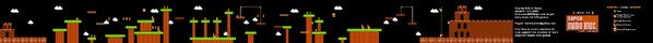 SMB World 3-3 NES level map