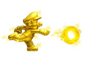 NSMB2 Artwork Gold-Mario