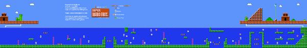 SMB World 7-2 NES level map