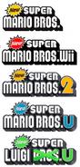 New Super Mario Bros. 1-5-Logos