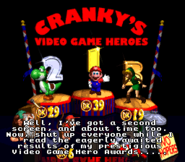 Cranky's Video Game Heroes - Results Tallying - Donkey Kong Country 2