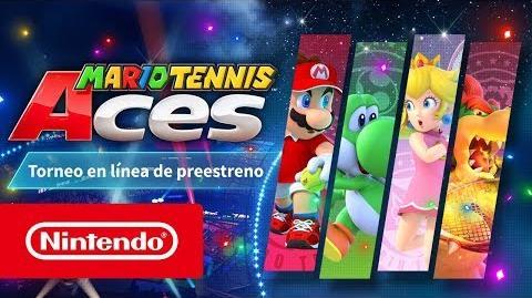 Mario Tennis Aces - Tráiler del torneo en línea de preestreno (Nintendo Switch)