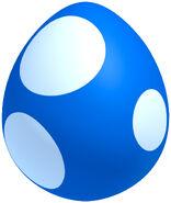 NSMBU Artwork Blaues Baby-Yoshi-Ei