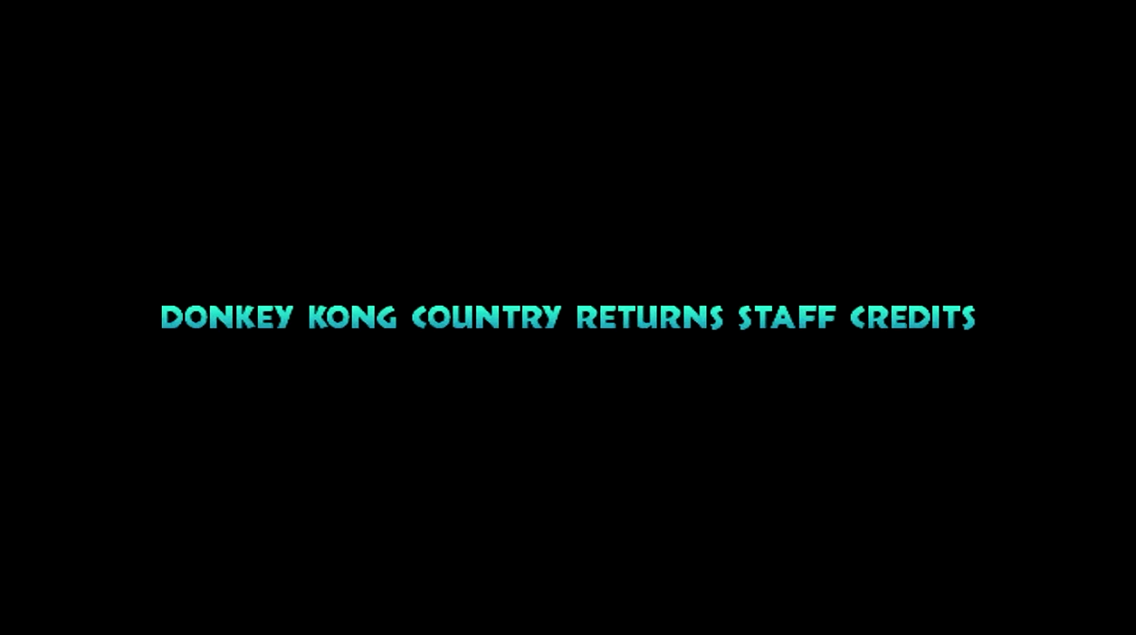 Donkey Kong Country Returns/Staff Credits