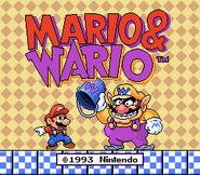 Mario & Wario Title Screen