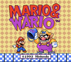 Mario & Wario Title Screen.png
