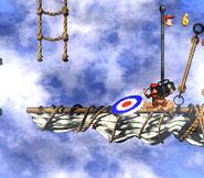 DKC2 Screenshot Schlotter-Mast 3