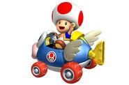 Toad en el coche cheep cheep