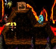DKC2 Screenshot Heißer Ritt 2