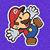 PMTOK Mario shocked purple background