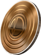 SSBB Artwork Bronzene Smash-Münze