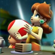 Daisy y Toad en Mario Super Sluggers