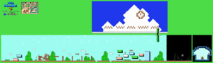 SMB3 World 1-3 NES level map