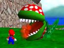 Eine gigantische Venus-Feuerfalle aus Super Mario 64.