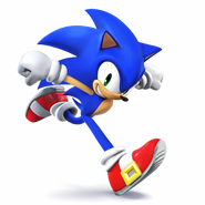 SSB4 Artwork Sonic