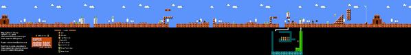 SMB World 5-1 NES level map
