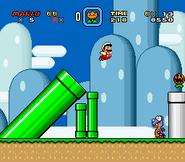 SMW Screenshot Yoshis Eiland 1 2
