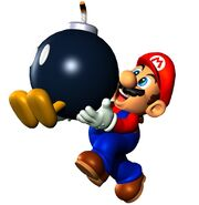 SM64 Artwork Mario und Bob-omb