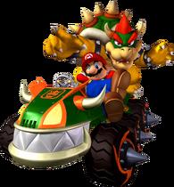 Bowser et Mario MKDD