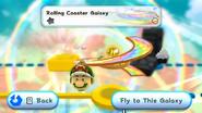 SMG2 Screenshot Achterbahn-Galaxie