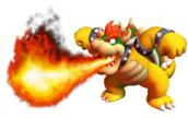 Bowser lanzando fuego