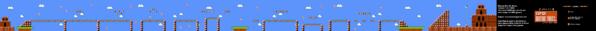 SMB World 2-3 NES level map