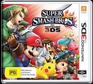 Super Smash Bros for Nintendo 3DS Australian boxart