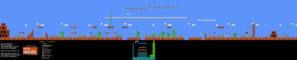 SMB World 2-1 NES level map