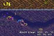 DKC3GBA Screenshot Flotte Fluss-Flitzerei 3
