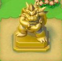 Gold Bowser Statue
