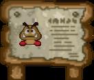 Goomba Sign (Paper Mario)