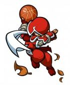 Ninja Mario Slam basketball
