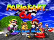 Title Screen (Mario Kart 64)