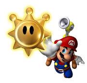 SMS Artwork Mario erhält Insignie der Sonne.jpg