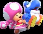 NSMBUD Toadette mit Blauen Baby Yoshi