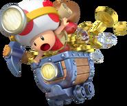 Toad Minecart Artwork - Captain Toad Treasure Tracker
