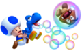 Blue Toad et Baby Yoshi blue
