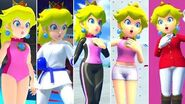 All Peach Costumes in Mario & Sonic at the Tokyo 2020 Olympic Games