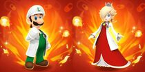 DrMWLuigi and rosalina on fire