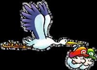 Bébé Mario, Bébé Luigi et la Cigogne - SMW2.png