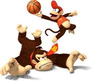 Mario Sports Mix Donkey Kong y Diddy Kong