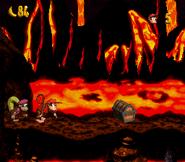 DKC2 Screenshot Lava-Samba 4