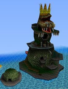 DK64 Screenshot King K. Rools schwimmende Festung.png
