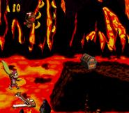 DKC2 Screenshot Lava-Samba 6