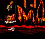 DKC2 Screenshot Lava-Samba 8
