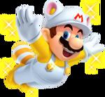 NSMB2 Artwork Weißer Waschbär-Mario