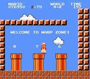 La Warp Zone dans Super Mario Bros.