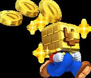 Gold Block Mario Artwork - New Super Mario Bros. 2